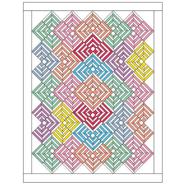 PixieSticks600pxsquare Friday Free Quilt Patterns: Pixie Sticks Lap Quilt Pattern