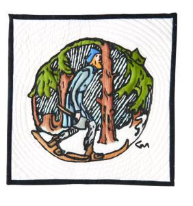 art quilt, viking art, norway artists, inktense, screenbprinting, enid gjelten weichselbaum