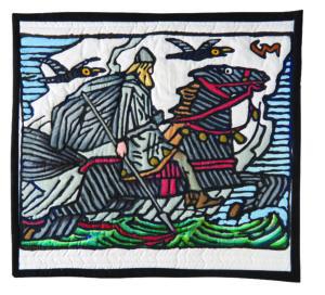 sketching, travel journal quilt, art quilt, jane lafazio, jane haworth