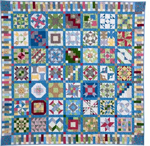 QM blue Block of the Month Quilts Youll Love and More!