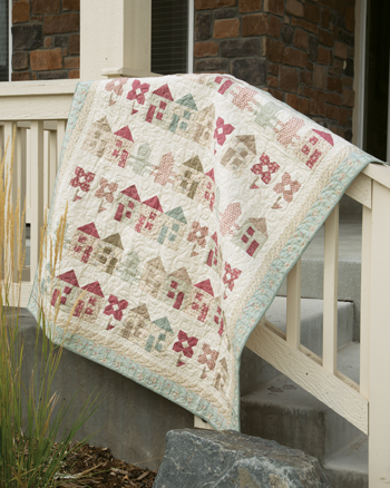 QM1702 COTTAGES 350style New Issue: Quiltmaker January/February 17