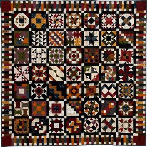 QMK157 New Block of the Month Quilt: 100 Blocks Sampler