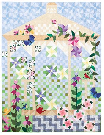 QMMP 120400 garden 350 Quiltmakers Garden: Partial Seams Made Easy