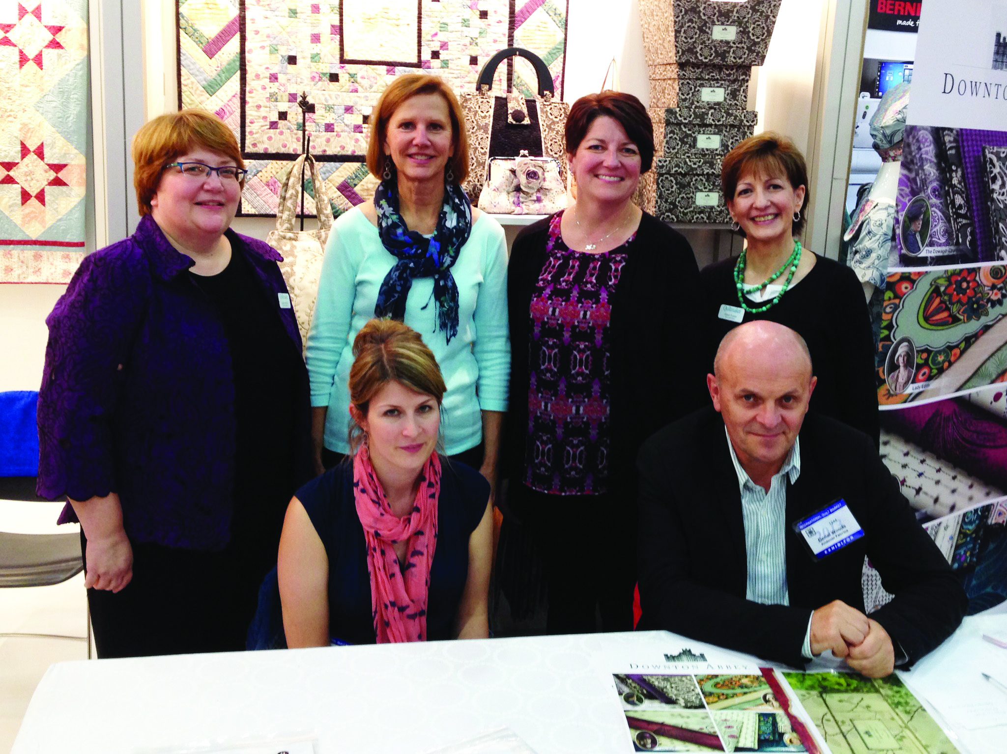 QMStaff DowntonAbbey Quiltmaker + Downton Abbey + Andover = Fabulous!