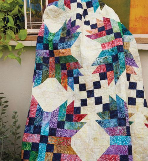 Quiltmaker Magazine - Jamaican Stars Quilt Pattern Download