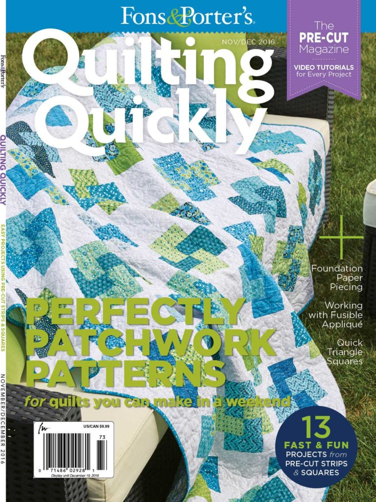 Quilting Quickly November/December 2016 - Fons & Porter - The ... : quilting fons and porter - Adamdwight.com