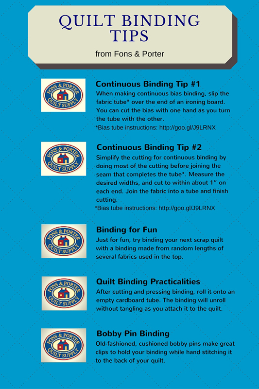 Tip Tuesday Quilt Binding Tips From Quilt Experts Fons Porter