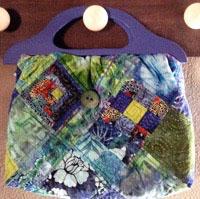 QuiltedPatchBag Beach Bag, Toy Bag, Game Bag, Project Bag, Grocery Bag or Tote Bag. Quilt it!