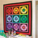 Rainbow Hearts Wall Quilt Pattern