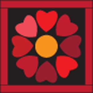 Rainbow Hearts Block 300px Top Ten Valentine Quilts and Projects