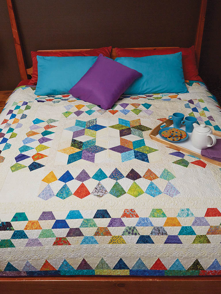 Rainbow Mosaic Quilt Fat Quarter Quilting Pattern The