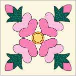 Rose of Sharon Quilt Block