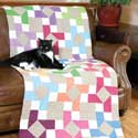 Rotation Cotton and Linen Lap Quilt Pattern