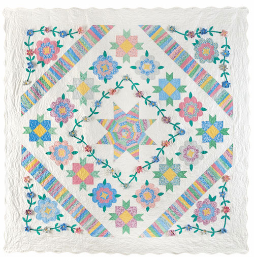 Ruby's Garden -- Block of the Month