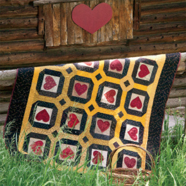 Rustic Hearts 600px Friday Free Quilt Patterns: Rustic Hearts