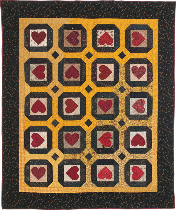Rustic Hearts FLAT 600px Friday Free Quilt Patterns: Rustic Hearts