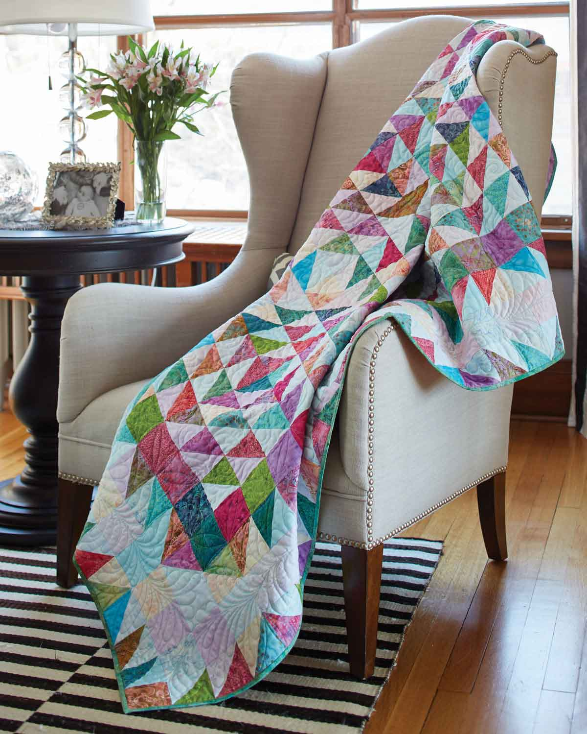 Scrappy Mosaic Quilt