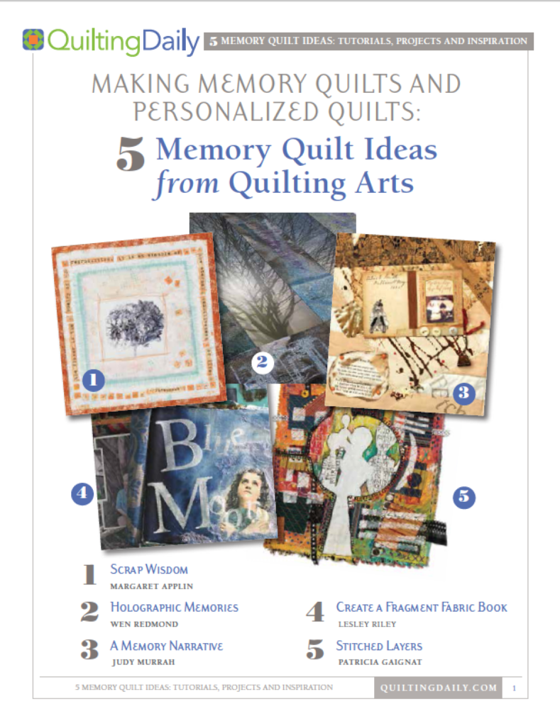 Learn how to make memory quilts today!