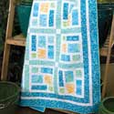 Sea Glass One-Block Lap Quilt Pattern
