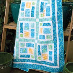Sea Glass: Beach Colors One-Block Lap Quilt Pattern - The Quilting ... : patterns for lap quilts - Adamdwight.com