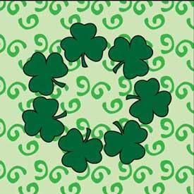 Seven Lucky Shamrocks Free Quilt Block Pattern