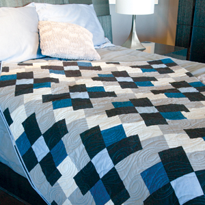 Shadow Walk: Strip Pieced King Size Quilt Pattern - The Quilting ... : size of king size quilt - Adamdwight.com