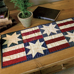 Simple Stars & Bars: Patriotic Table Runner Quilt Pattern