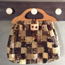 SmallPatchBag Beach Bag, Toy Bag, Game Bag, Project Bag, Grocery Bag or Tote Bag. Quilt it!