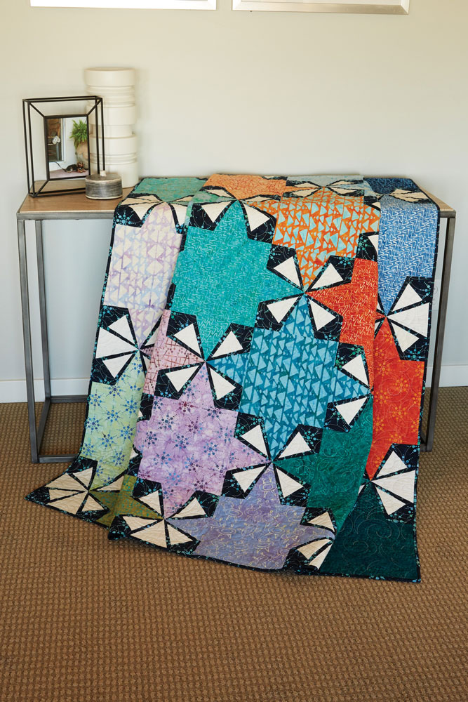 Sprockets Batik Quilt Pattern