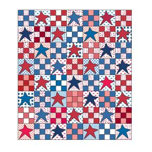 Stars for Sydney: FREE Patriotic Star Queen Size Quilt Pattern ... : patriotic quilt kits - Adamdwight.com