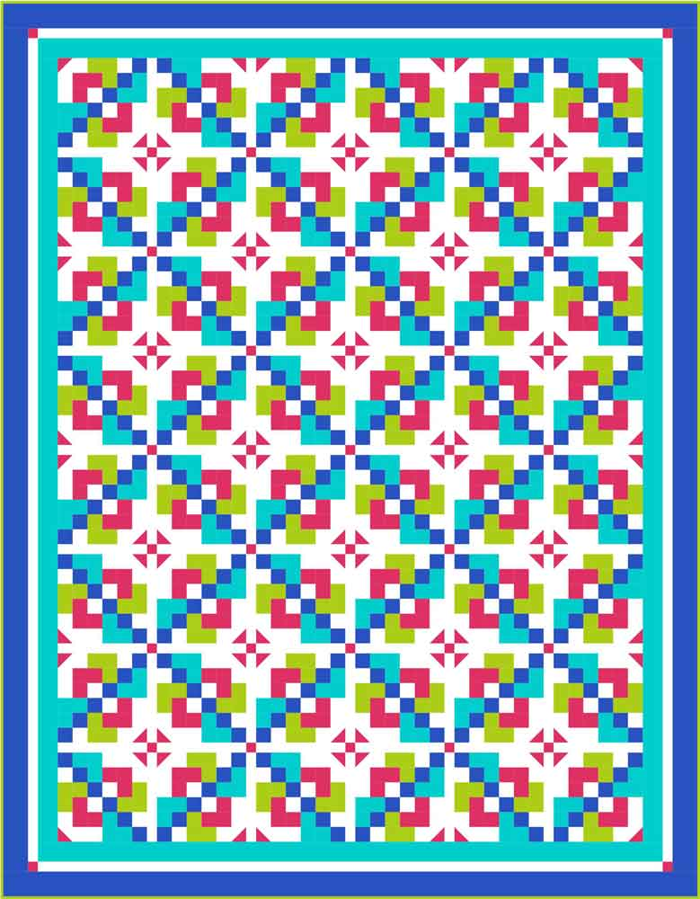 Summer quilt Pixie Pathways: A Visit with Kate Colleran