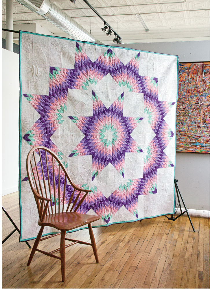 Supernovae Spectacular Broken Star Bed Quilt Pattern The Quilting