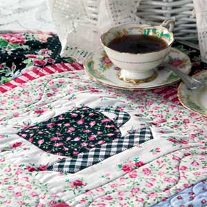 Tea Time at Nana's: Quick Fuse and Piece Teacup Quilt Pattern ... : tea time quilting - Adamdwight.com