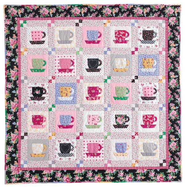 Teacup: FREE Quilt Block Pattern - The Quilting Company : tea time quilting - Adamdwight.com