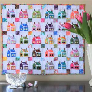 The House that Kaffe Built: FREE Paper Pieced Miniature Quilt Pattern Download