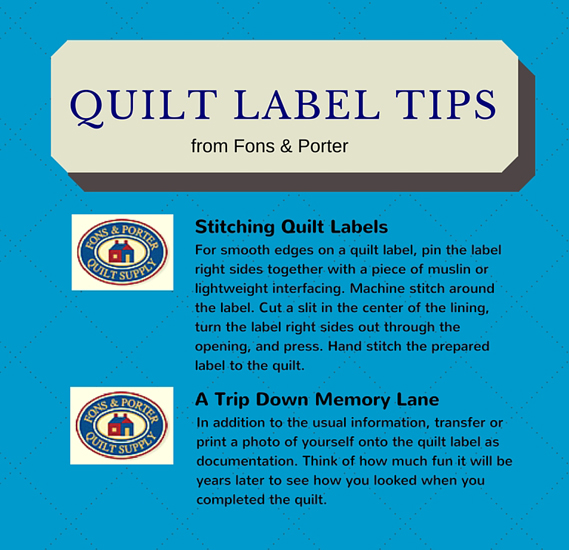 Tip Tuesday 9 Quilt Label Tips Straight From The Quilt