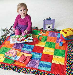 Toddle Time: Easy Template-Free Baby Quilt Pattern - The Quilting ... : quick and easy baby quilts - Adamdwight.com