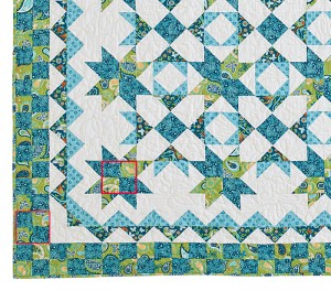 TreasureQuilt fourpatch2 300x264 Hidden Treasure, Behind the Design