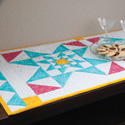 Trinity Stars Quilted Table Runner Pattern
