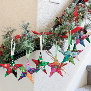 Twinkle Twinkle Fast Easy Patchwork Star Ornaments The