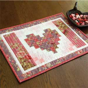 Two Hearts Runner Free Valentine Placemat Pattern The