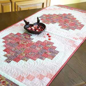 Two Hearts Runner: Valentine Quilted Table Runner Pattern