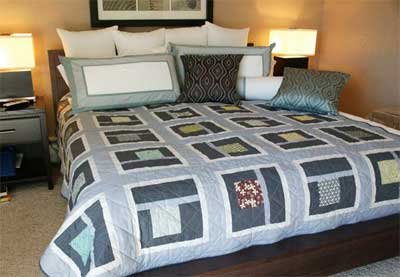 Urban Neighborhood FREE Bed Quilt Pattern Friday Free Quilt Patterns: Urban Neighborhood Bed Quilt Pattern