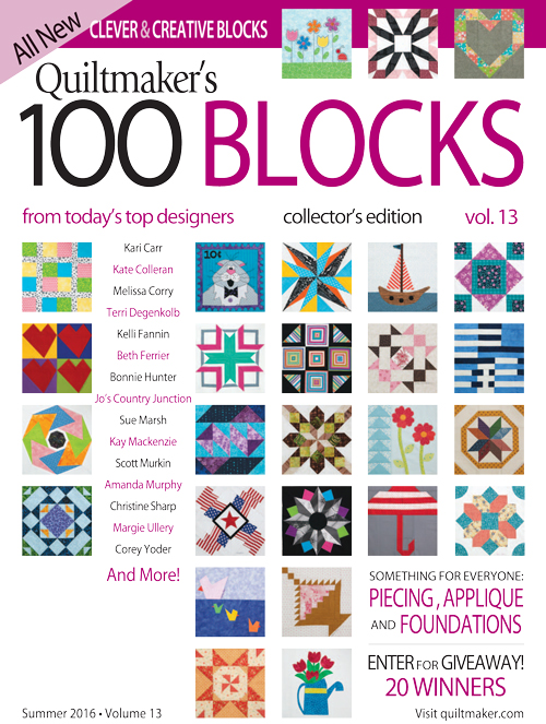 Vol13 COVER 500px Quiltmakers 100 Blocks Vol. 13 Blog Tour: Day 3