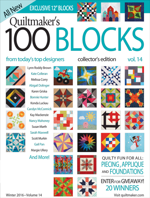 Vol14 COVER 500px Quiltmakers 100 Blocks Vol.14 Blog Tour: Day 2