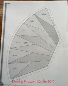 Waterwheels PatternB 238x300 Paper Piecing with Debby Kratovil