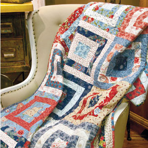 Westward Journey: FREE Fast Fat-Quarter Lap Quilt Pattern Download ... : easy quilt patterns using fat quarters - Adamdwight.com