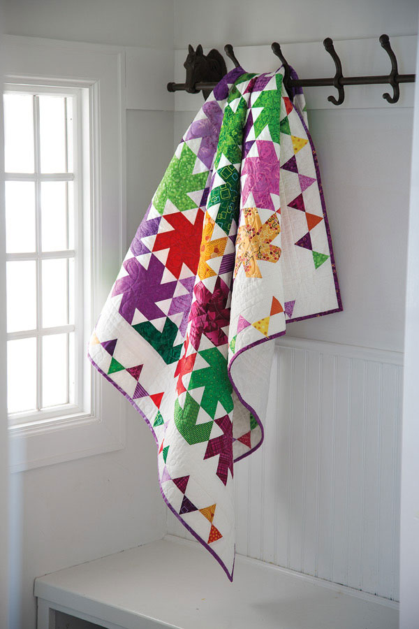 Whirling Pinwheels -- Colorful Quilts