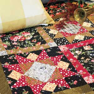 Winter's Night: Charming Floral Quilt Pattern