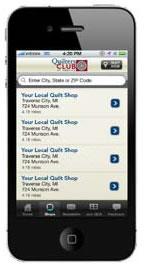 Preview of Quilt Shop App